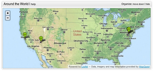 Mapquest homepage SmugMaps maps